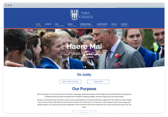 Tawa College Homepage